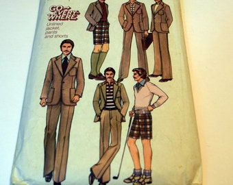 Vintage 1970s Simplicity 7943 Go Everywhere unlined jacket, pants and shorts sewing pattern