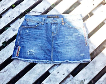 LUCKY BRAND DISTRESSED Jean, denium skirt