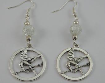 Hunger Games White earrings