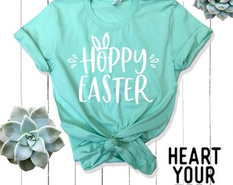 Hoppy Easter Shirt - Easter Shirt Women - Easter Shirt Adults - Easter Bunny Shirt for women - Easter Basket Stuffer For Adults