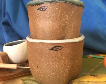 coffee tea broth cups - set of 2