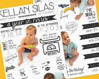 A Year in Review Birthday Infographic • Printable - Digital