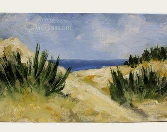 Beach Painting, Sand Dunes, Beach House, Coastal, Sea, Rustic Beach, Original Painting, Landscape Painting, Winjimir, Home Decor, Wall Art
