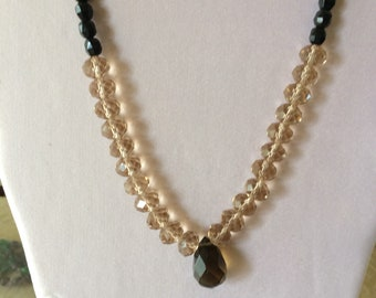Faceted necklace and earrings