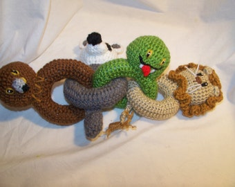 Crochet Harry Potter animal link baby rattle toy inspired ANY animals you want ANY colors you want