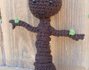 Baby Groot doll, crochet groot , guardians of the Galaxy