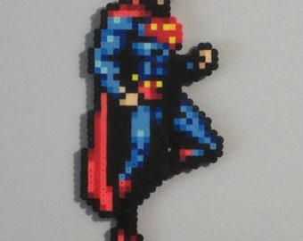 Superman pixelated wall art