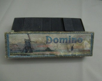 Vintage Antique Dominoes European Victorian Era