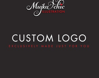 Custom Exclusive Logo Design. One of a kind Logo Design, Mujka Chic Logo Design. Graphic Design