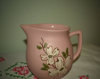 Pink pigeon forge pottery pitcher