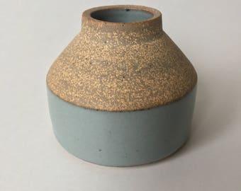 Medium gray bud vase #12