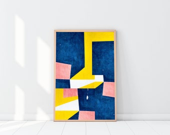 Color Block Abstract | Home Decor | Printable | Wall Art | Download | 16x20