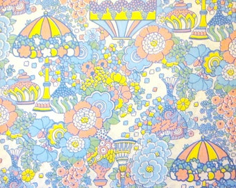 Vintage Wrapping Paper - Groovy Flowers - One Sheet Gift Wrap