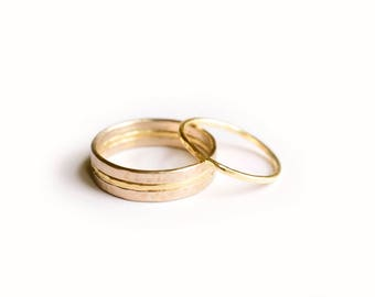 Horizon | His & Hers Wedding Band Set