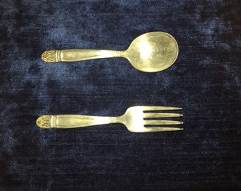 Holmes and Edwards Danish Princess Baby Spoon and Fork