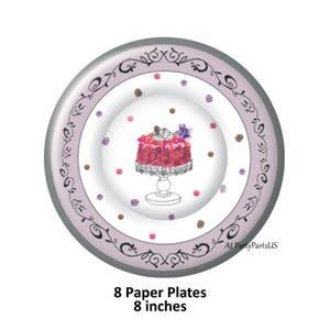 purple birthday cake plates girls party ideas sweet 16 decorations bridal shower  sc 1 st  Etsy & Sweet 16 tableware   Etsy