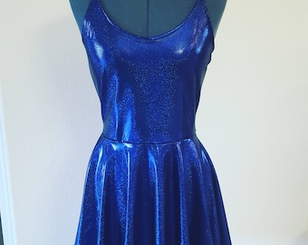 Women's/Junior's SHIMMERY Midnight Blue Party Dress