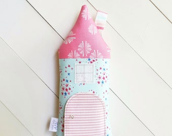 Tooth Fairy Pillow, Tooth Fairy House, Tooth Fairy Girls, Stuffed Toy, House Pillow, Girls, Children, Keepsake, Toys