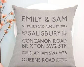 Personalised Best Memories Cushion