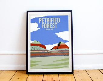 Petrified Forest National Park - US National Parks - Art Print - (Available In Many Sizes)