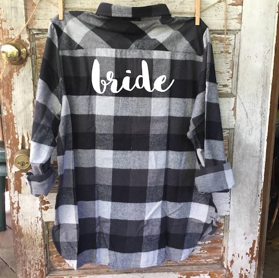 BREW CREW flannel, bride flannel, bride, bachelorette flannel, fall wedding, flannel bridesmaid, buffalo, bachelorette flannel, bride gift