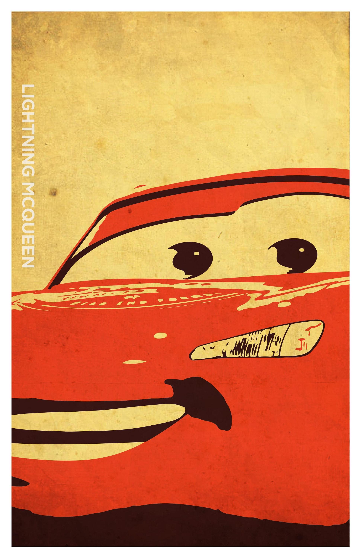 Cars Inspired Poster Set Mcqueen Mater Doc Hudson