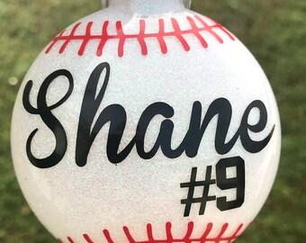 Baseball Ornament- Personalized