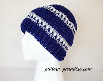 Crochet Pattern Hat Beanie Snowy Day Hat PDF 16-220 INSTANT DOWNLOAD