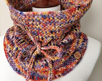 100% Merino Wool Colorful Luxury Cowl