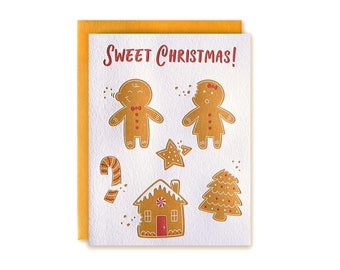 Sweet Christmas! – Christmas Card, Holiday Card, Gingerbread Cookies