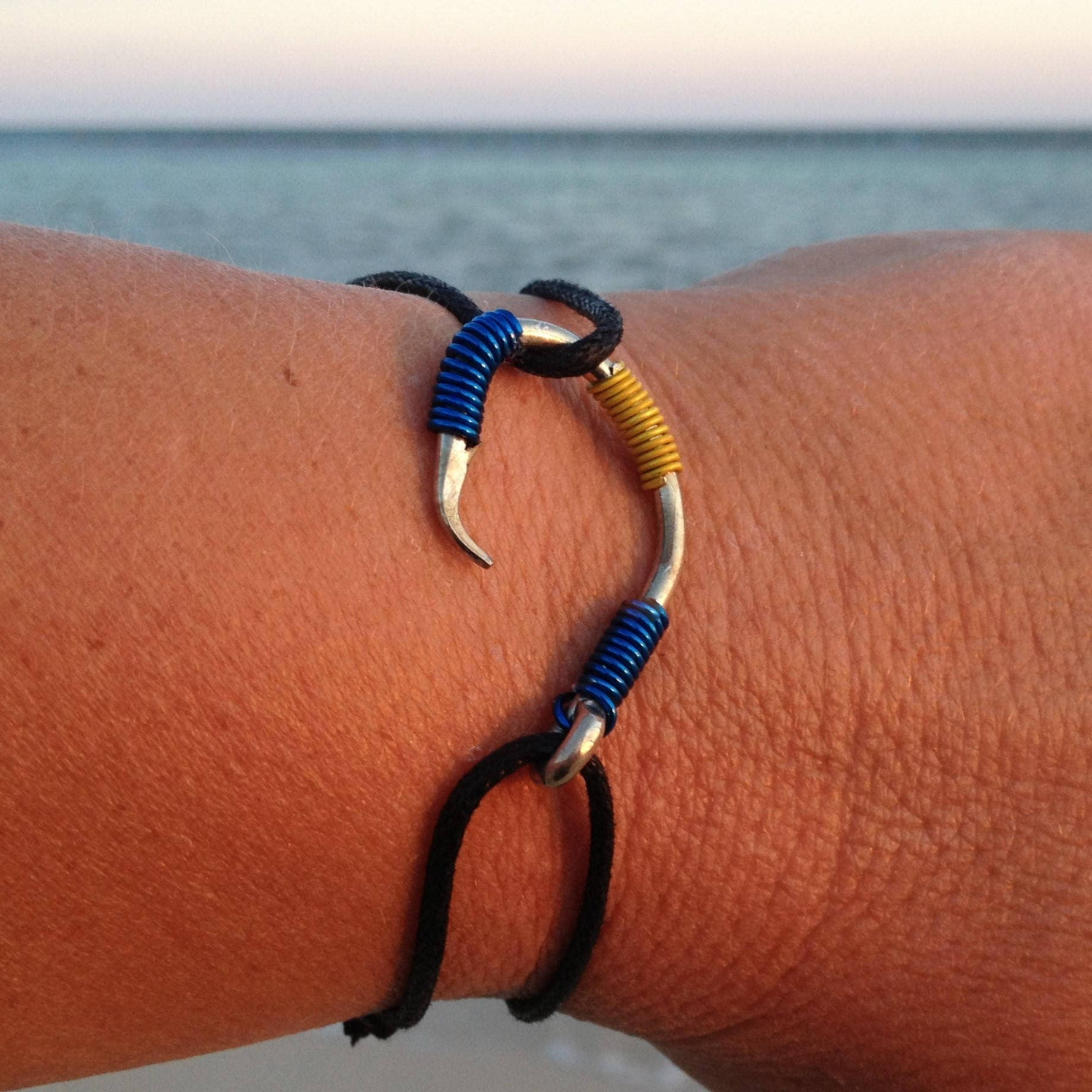 fish thom lahana code adjustable hook bracelet wm by m anklet