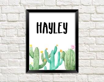 Name art, Personalized name wall print, Nursery custom name, Girl room art, Gift, Personalize name, custom nursery print, custom wall print