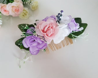 Floral hair comb,Greenery Wedding Leaf,Wedding Flower Hair Comb,Bridal Hair Piece,Wedding Headpiece,Wedding Comb,Floral Accessories