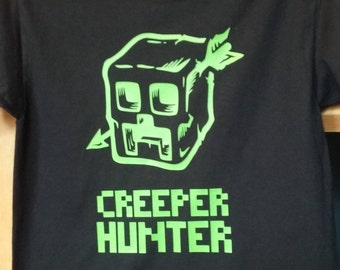 Creeper Hunter T-shirt - New Born Through 5XL - Heat Transfer Vinyl