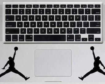 Basketball Jumpman Logo Decal Michael Jordan Decal Macbook Decal Inspirational Macbook Sticker Laptop Decal 2 Decals 1 Price