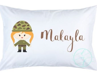 Personalized Custom Military Army Pillowcase