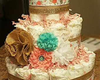 Customizable Made to Order Diaper Cake