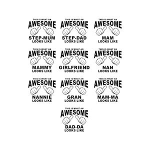 This is what an Awesome looks like PACK v2 Graphics SVG Dxf EPS Png Cdr Ai Pdf Vector Art Clipart instant download Digital Cut Print File