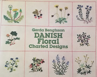 Danish Floral Cross Stitch Patterns--Wild Flowers and Fruit