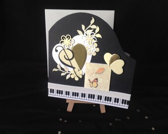 Baby Grand Piano Card - For her/For him