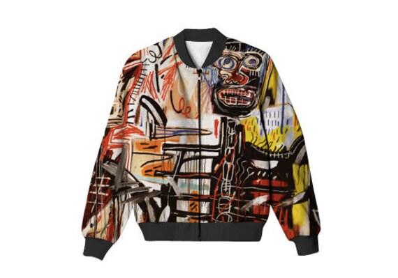 Unisex bomber jacket Basquiat Bomber-jacket full print gift for her gift for him gift ideas eCJWfwlK