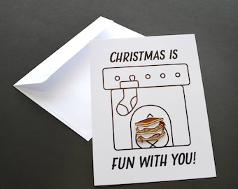 Holidays Are S'more Fun With You Pin Card