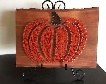 Autumn Pumpkin String Art