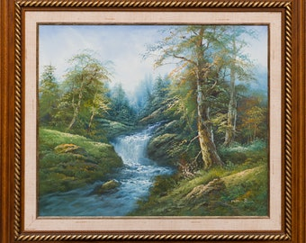 Landscape oil painting, contemporary art, Nature painting original, oil painting landscape, Canvas Wall art, original painting
