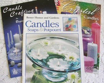 DIY Candle Tutorials - 3 Candle Instruction Books - Melt and Pour Candlemaking - Handmade Candle Ideas