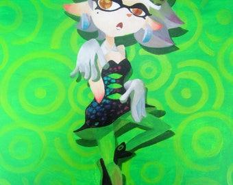 Splatoon Marie Splatfest Painting - Print