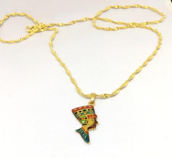 Queen nefertiti pendant necklace gold tone necklace egyptian queen nefertiti pendant necklace gold tone necklace egyptian jewelry nefertiti jewelry nefertiti necklace mozeypictures Gallery