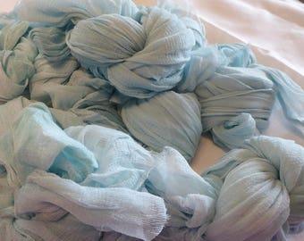 Hope Jacare Creative Textiles Hand dyed Silk Mix Chiffon approx 45 cm  x 1.8m - nuno felt - aqua