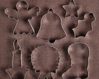 Christmas Cookie Cutter Set, Holiday Cookie Cutters, Angel Cookie Cutter, Star Cookie Cutter, Holly Cookie Cutter, Bell Cookie Cutter