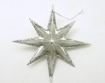 Vintage Christmas Ornament Silver Star Christmas Decoration